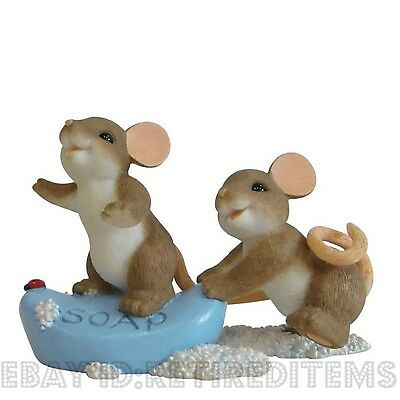 """""""I Always Have A Soaper Good Time With You"""" CHARMING TAILS Figurine Enesco tales"""