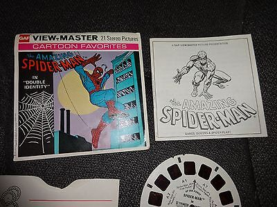 """View-Master Reels:  The Amazing Spider-Man in """"Double Identity"""" 1977 GAF"""