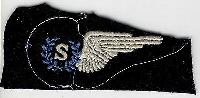 "Military Royal Australia Air Force Raaf Uniform Cloth Half Wing Air Crew ""s"" Ww2"