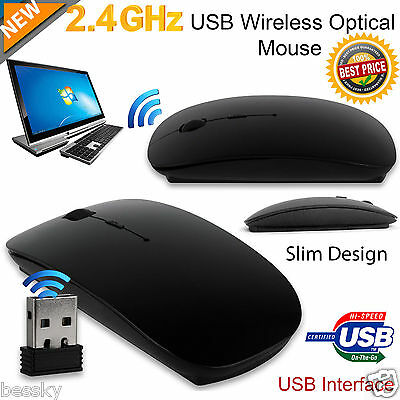 2.4 GHz Wireless Cordless Mouse Optical Scroll For PC Laptop Computer With USB
