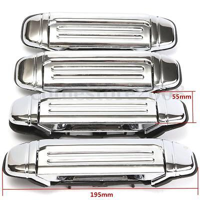 4PCS Chrome Door Handle Front Rear Left Right Fit For 92-97 Mitsubishi PAJERO