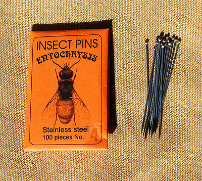 Entochrysis black mounting insect pins 100 pcs size 6 entomology large insects
