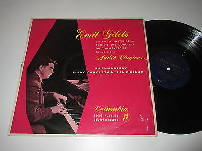 Lp/columbia 33Cx 1323/emil Gilels Andre Cluytens/rachmaninov Piano Concerto No 3