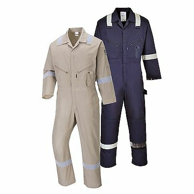 Portwest Iona Cotton Coverall Overall Boilersuit Workwear Jumpsuit C814