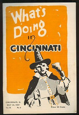WHAT'S DOING IN CINCINNATI May 28, 1927 Guide Book OHIO Tourist