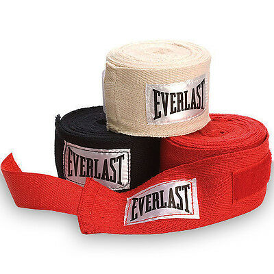Everlast Boxing MMA Hand Wrap Bandages Wrist Support - 3 Pack Set 108 Inches