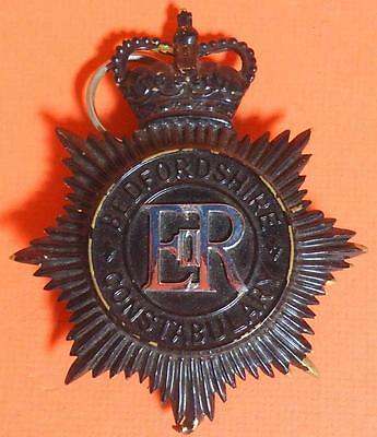 Vintage Obsolete Bedfordshire Constabulary Helmet Plate