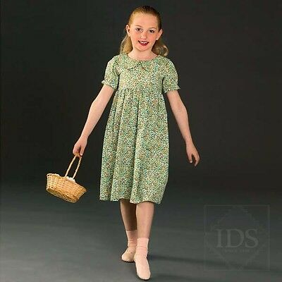 IN STOCK Frill Collared Floral Dress Character Party Dress Dance Costume