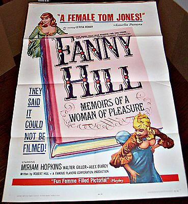 Fanny Hill (1965) Russ Meyer Adult Film * Miriam Hopkins Orig 27X41 1-Sht Poster