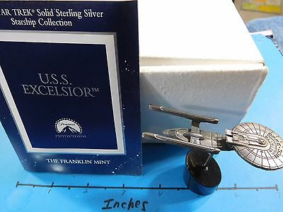 Star Trek Movie The Undiscovered Country Uss Excelsior 1995 Silver Ship #b