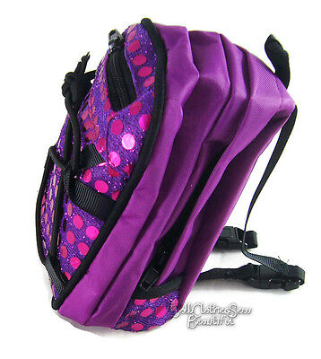 "Purple Sequin Backpack for 18"" American Girl Doll Back-To-School Accessories"