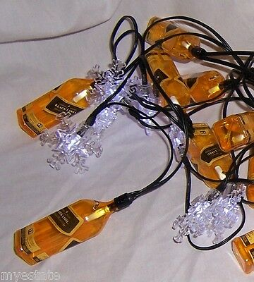 NEW in Box Barware JOHNNIE WALKER Black Label HOLIDAY STRING LIGHTS Neat Gift!