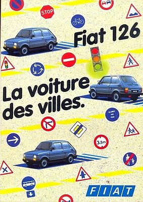 Fiat 126 French market full colour sales brochure 1985