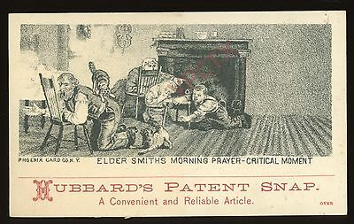 1880s HUBBARD'S PATENT SNAP Trade Card