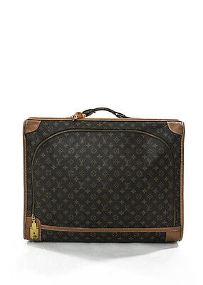 LOUIS VUITTON THE FRENCH CO. Coated Canvas Monogram Leather Accent Suitcase
