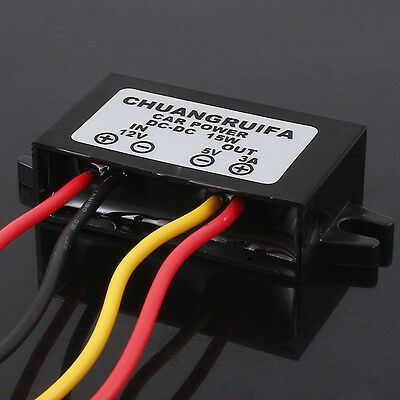 Waterproof DC-DC Converter 12V Step Down to 5V Power Supply Module 3A 15W LF