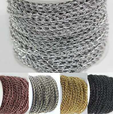 6x4mm Gold Silver Bronze Open Ring Cable Aluminum Chain Finding Craft 2/5/10M