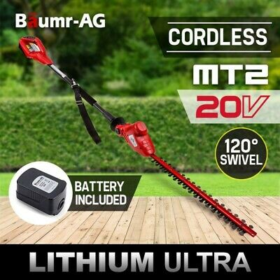 Baumr-AG 20V Lithium-Ion Pole Hedge Trimmer Battery Electric Cordless Tool 21""