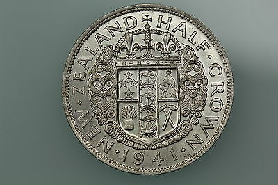 Nz Halfcrown Coin 1961 Km29.2 Almost Uncirculated New Zealand
