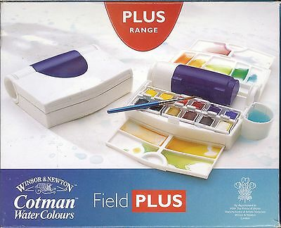 Winsor And Newton COTMAN WaterColours Field Plus set NEW Made in England