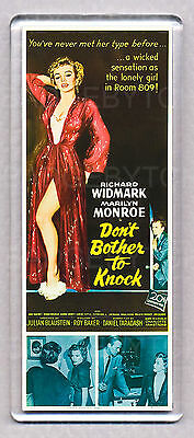 DON'T BOTHER TO KNOCK movie poster LARGE FRIDGE MAGNET - MARILYN MONROE