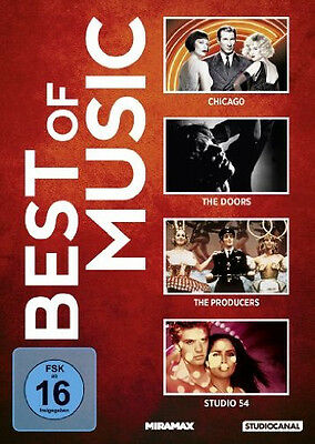 4 DVDs *  BEST OF MUSIC : CHICAGO / STUDIO 54 / THE DOORS U.A. # NEU OVP /