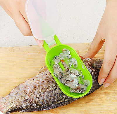 1pcs New Fish Scale Remover Scaler Scraper Cleaner Kitchen Tool Peeler