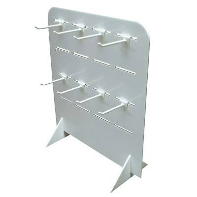Acrylic Slatwall Counter Stand with 16 hook slots (DS20)