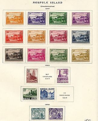 Stamp / Timbre British Colonies / Norfolk Island / Lot Neuf Charniere Cote + 42€