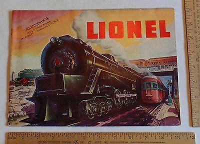 © 1948 - LIONEL Train CATALOG - illustrated paperback - listing number two