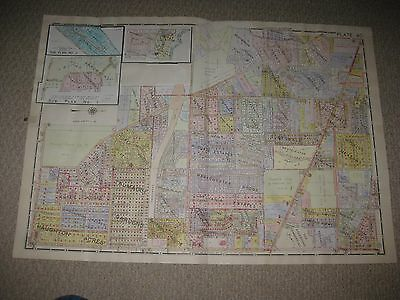 Antique 1924 Maumee Perrysburg University Of Toledo Lucas County Ohio Hndclr Map