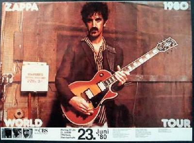 Frank Zappa Germany 1980 Concert Poster World Tour Original Rare