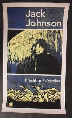 Jack Johnson Brushfire Signed Autograph Coa Poster Silkscreen Original