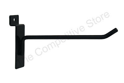 "6"" Slatwall Hooks For Slat Panel Display - Black White or Chrome - FREE SHIPPING"