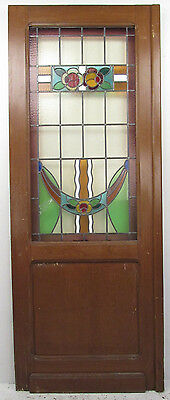 Vintage American Stained Glass Door (9341)NJ