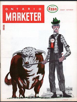 IMPERIAL ESSO ONTARIO MARKETER Aug Sept 1956 Canada Employee News Bulletins