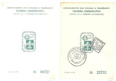 Brazil Boy Scouts Scott #1006 Stamp Design On Two Cards 1 Fdc 1965
