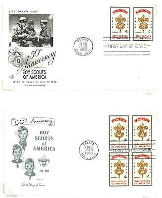 Canal Zone Boy Scouts Scott #151 Stamp On Two Fdc First Day Covers 1960 **