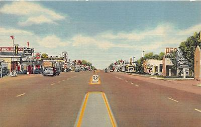 HIGHWAY U.S. 66 TUCUMCARI NEW MEXICO GULF GAS STATION POSTCARD (c. 1940s)