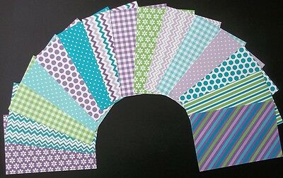"15 Colourful **JEWEL** Scrapbooking/Cardmaking Papers 15cm x 10cm (6"" X 4"")"
