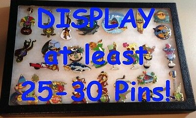 "GLASS FRAME Display Case SHADOW BOX Lapel Pin Badge Patch Medal Keychains 12""x8"""