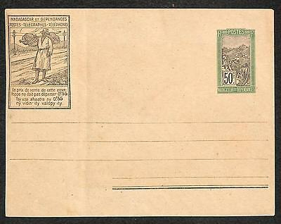 Madagascar Higgins & Gage #13 Stationery Entire Advertising Mail Delivery 1927