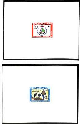 Mali Boy Scouts & Youth Scott #524-26 Deluxe Proofs & 527-28 Stamps Mnh