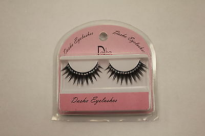 NEW Fake False Eyelashes Black with Rhinestones