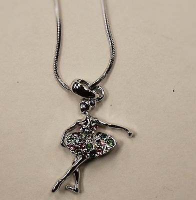 NEW Necklace Ballerina With Stones  MULTI-COLOUR
