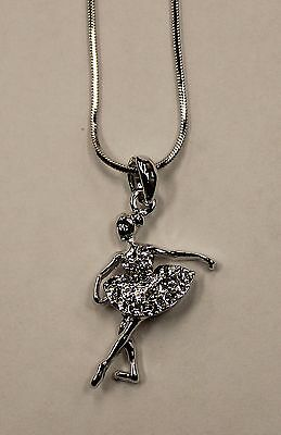 NEW Necklace Ballerina With Stones  CRYSTAL