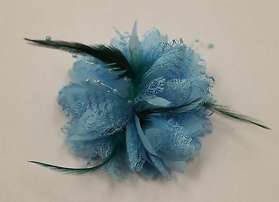 NEW Hair Accessory Flower Blue