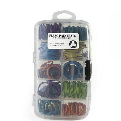 Master Paintball color coded o-ring kit W/ 600+ orings by Flasc Paintball