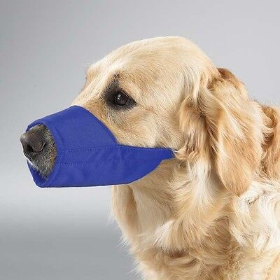 Guardian Gear Fashion Lined Nylon Dog Muzzle Grooming 0-5XL Blue