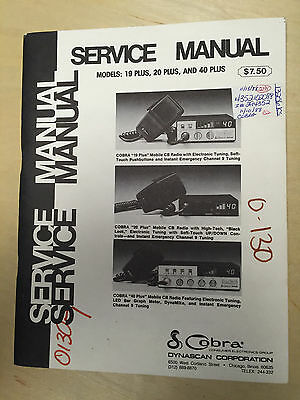 Dynascan Service Manual for the Cobra 19 20 40 Plus CB Radios      mp